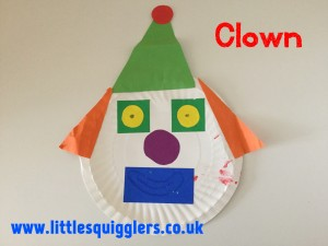 Paper Plate Clown & 8 Simple Paper Plate Crafts For Toddlers \u2013 Little Squigglers