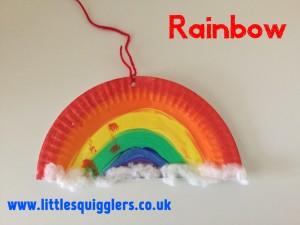 Paper Plate Rainbow